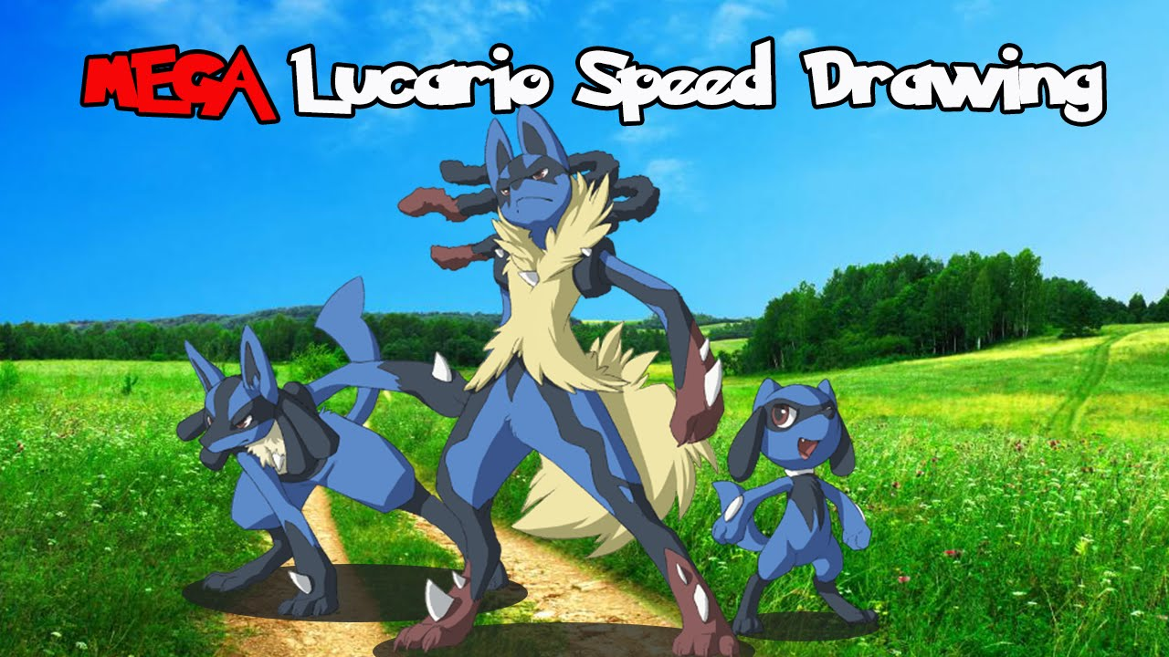 Mega Lucario Speed Drawing