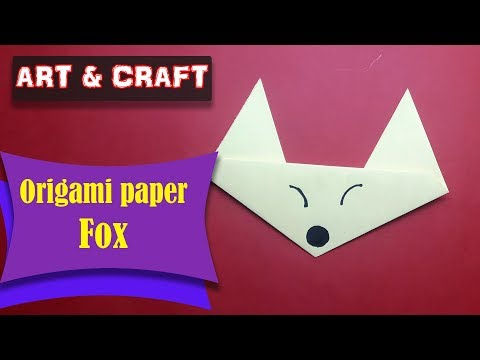 DIY  How to make an origami paper Fox || Art & Craft || Open Mind 🎊