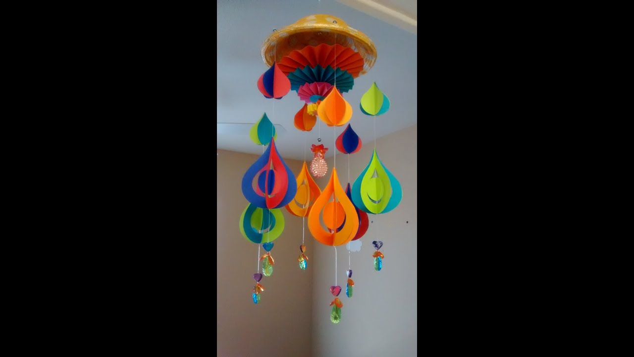 Art and Craft: DIY Paper Wind Chime - YouTube