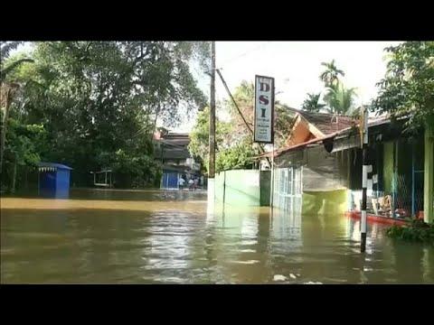 Monsoon rains cause heavy flooding in Sri Lanka