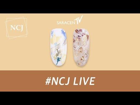 NCJ Live! - 구름벽화,젤필름 네일아트 /  Cloud mural, Gel film nail art