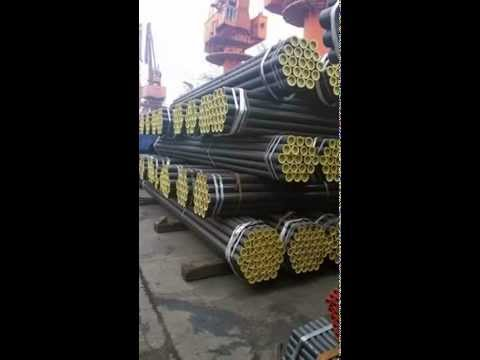 ERW steel pipe bulk vessel loading process