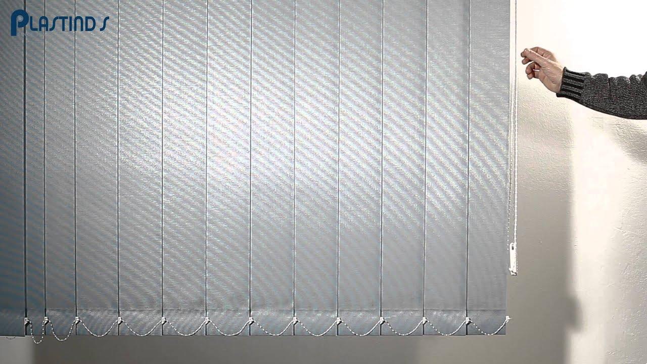 Tende Verticali A Bande.Plastind S Tenda Verticale Tessuto Filtrante In Strisce Da 127 Mm