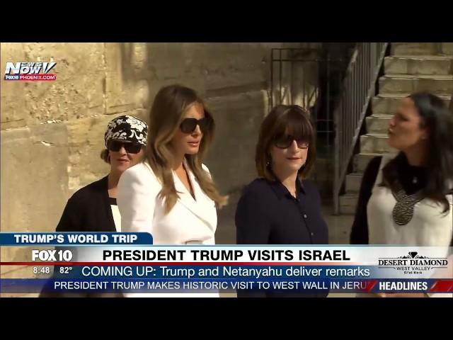 WATCH: Melania Trump & Ivanka Trump Visit Western Wall in Jerusalem During Trip to Israel.