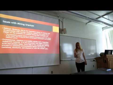 Magmatic Uranium Deposits (Geology 460 Presentation 2014)