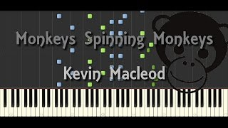 Synthesia Piano Tutorial Monkeys Spinning Monkeys Kevin Macleod