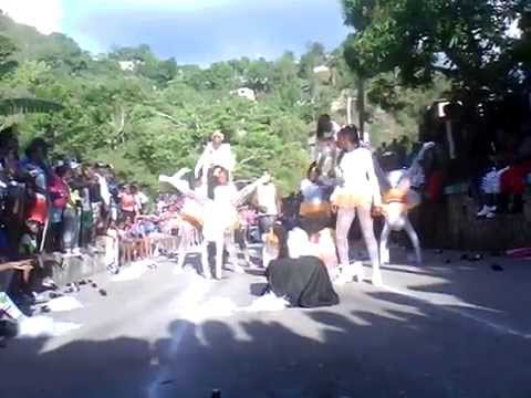 mammee river sports day april 2015 yellow house cheerleading - youtube