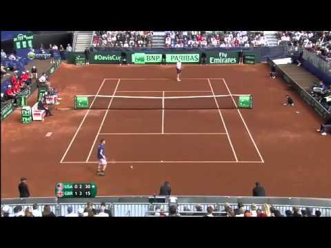 Highlights Andy Murray vs Sam Querrey Davis Cup 2014