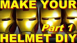 How do you make a Ironman Helmet DIY Papercraft Part 1