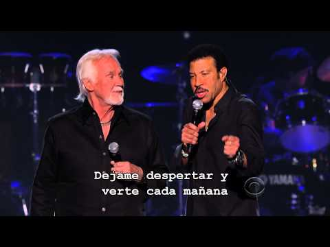 Lionel Richie _ Kenny Rogers Lady Subtitulado Español