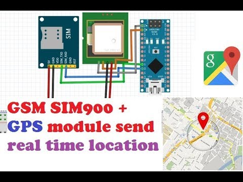 GSM Sim900 + GPS +Arduino Nano Send Real Time Location