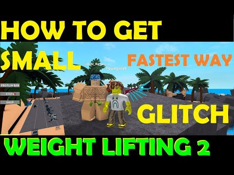 Roblox Weight Lifting Simulator 2 - Fastest/BEST Way To Get Small [GLTICH] READ DESC PLZ NEW METHOD