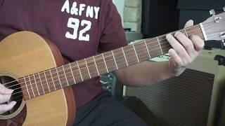 Guitar thực hành bài 3 (A harmonic minor scale) cách áp dụng.