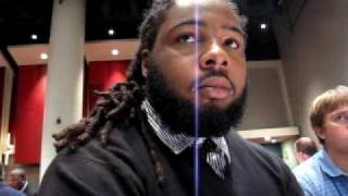 Big Ten media days -- Iowa DE Adrian Clayborn