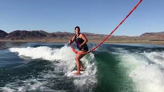 Wakesurfing trick: how to do a switch 360