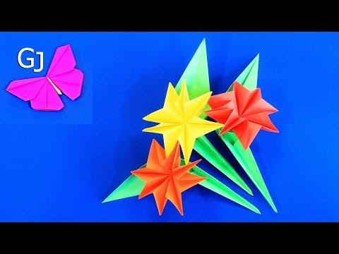 Оригами цветы из бумаги на 8 Марта / Хороший подарок для Мамы