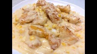【20無限】:  好好味 的 忌廉雞湯粟米斑塊  Fried Fish with Creamy chicken Corn Sauce
