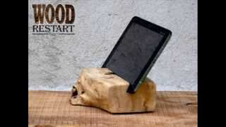 Ipad Wooden Station. Tablet Station. Handcrafted Ipad Holder.