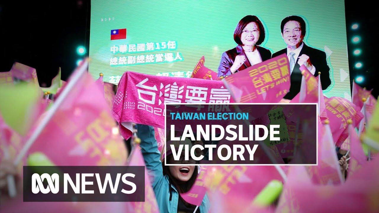 Download Taiwan's Tsai Ing-wen's landslide re-election a massive blow to Xi Jinping   ABC News