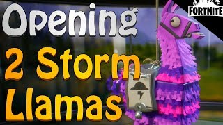 FORTNITE - The First Survive The Storm Quests And Rewards (Opening My First 2 Storm Llamas)