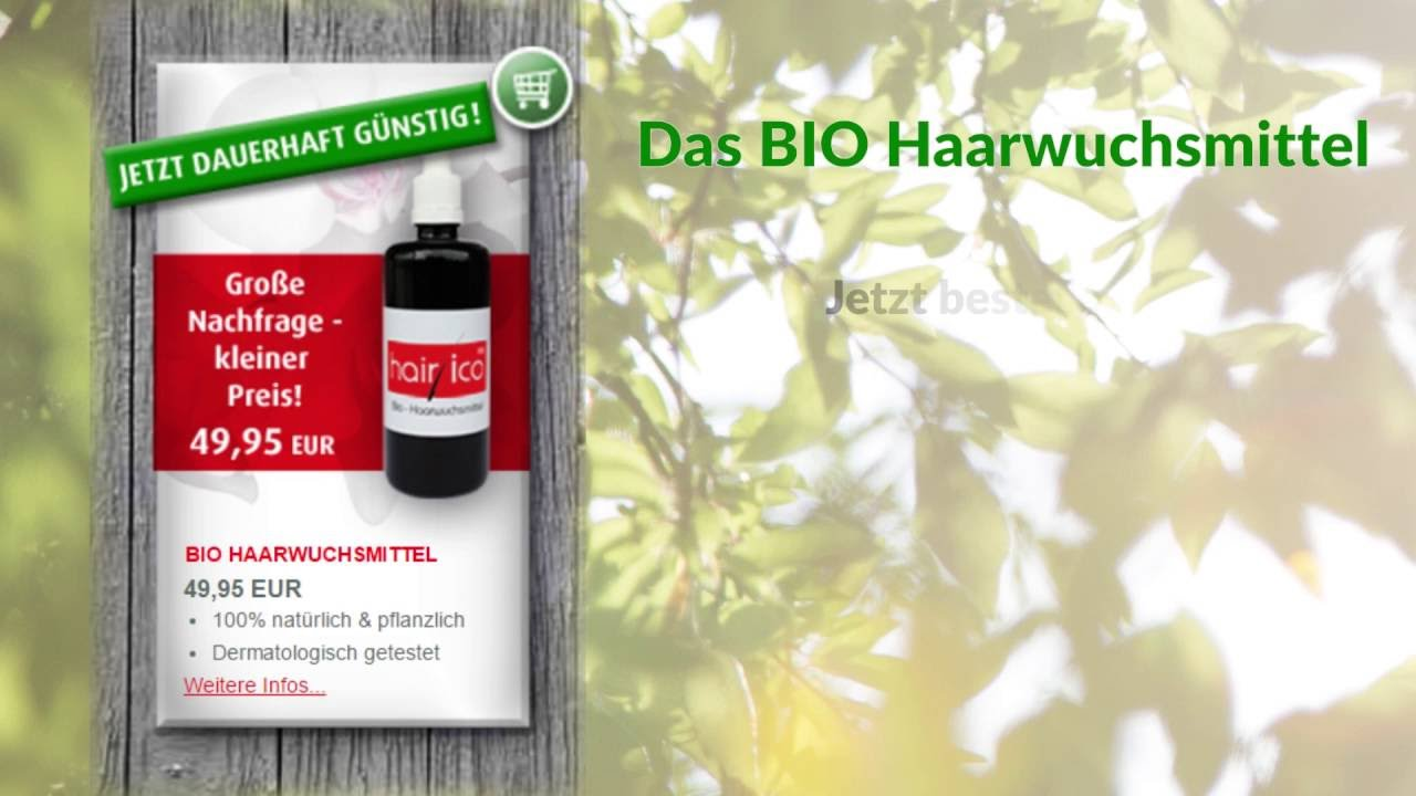 hairico gmbh das bio haarwuchsmittel erfahrungsberichte youtube. Black Bedroom Furniture Sets. Home Design Ideas