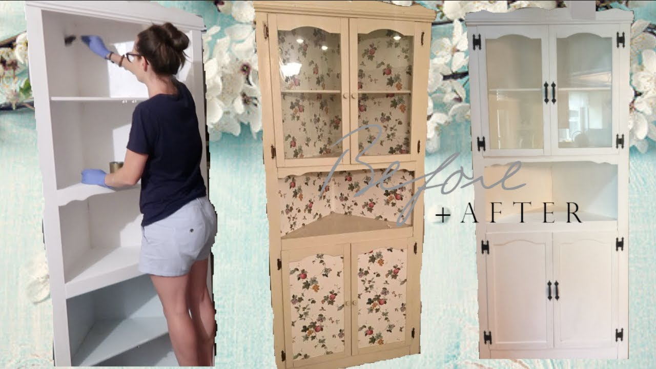 How Old Is This Thing Diy Refurbished Antique Cabinet Craft With Me Farmhouse Style Youtube