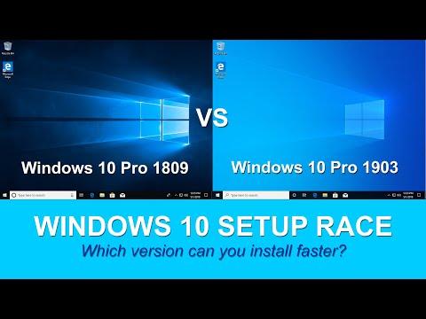 Microsoft Windows 10 Setup Race: 1809 Vs 1903