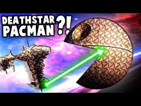 Star Wars DEATH STAR Pac-Man vs Rebel Fleet (Forts Star Wars Mode)