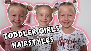 TRIPLET Toddlers Girl Hairstyles | 5 days 5 hairstyles - HELP IM NOT A HAIRDRESSER!