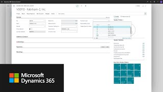 How to set up a vendor in Dynamics 365 Business Central