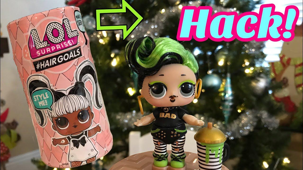 lol doll hacks barcode hair goals