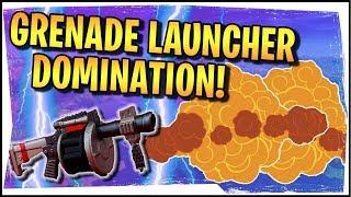 Hysteria | Fortnite | Grenade Launcher Domination! - Squads with Roxy and Avajaijai
