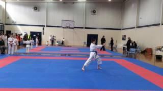 AKF Nth Tas Karate Championships 2016 - Kata Female 12 - 14 years. Nel's Bassai Dai