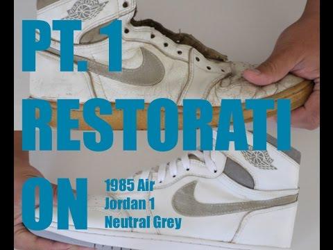 688646d38c2d 1985 Air Jordan 1 Restoration PT 1 (Removing Sole) - YouTube