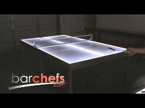 Light up LED ping pong tables
