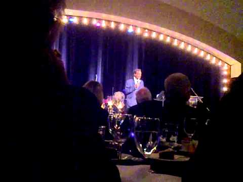 Jazz Singer Joe Lee Wilson sings at the Oklahoma Jazz Hall of Fame in Tulsa, Oklahoma. Fall 2010.