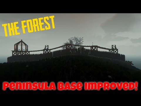 Peninsula Base IMPROVED! - Defensive Walls  [The Forest 0.45]