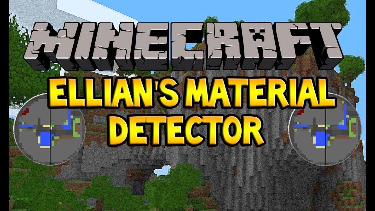 Ellian's Material Detector Mod 1.8.8, 1.8.1, 1.8, 1.7.10 and 1.6.4