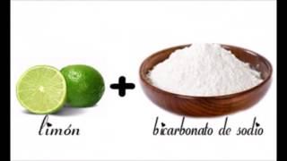 La mitad de un LIMÓN mojado en bicarbonato de sodio. ¡Es increíble lo que puede hacer!