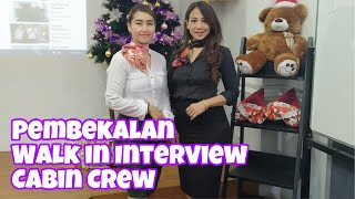 DUET SHARING DENGAN Ms. MAYA MEMBERI PEMBEKALAN WALK IN INTERVIEW UNTUK CALON CABIN CREW DI BATC