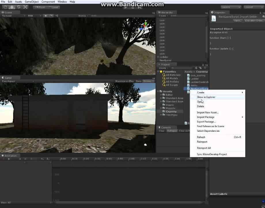 Unity C# - Как сделать перезапуск уровня при падении Как сделать уровень в unity3d
