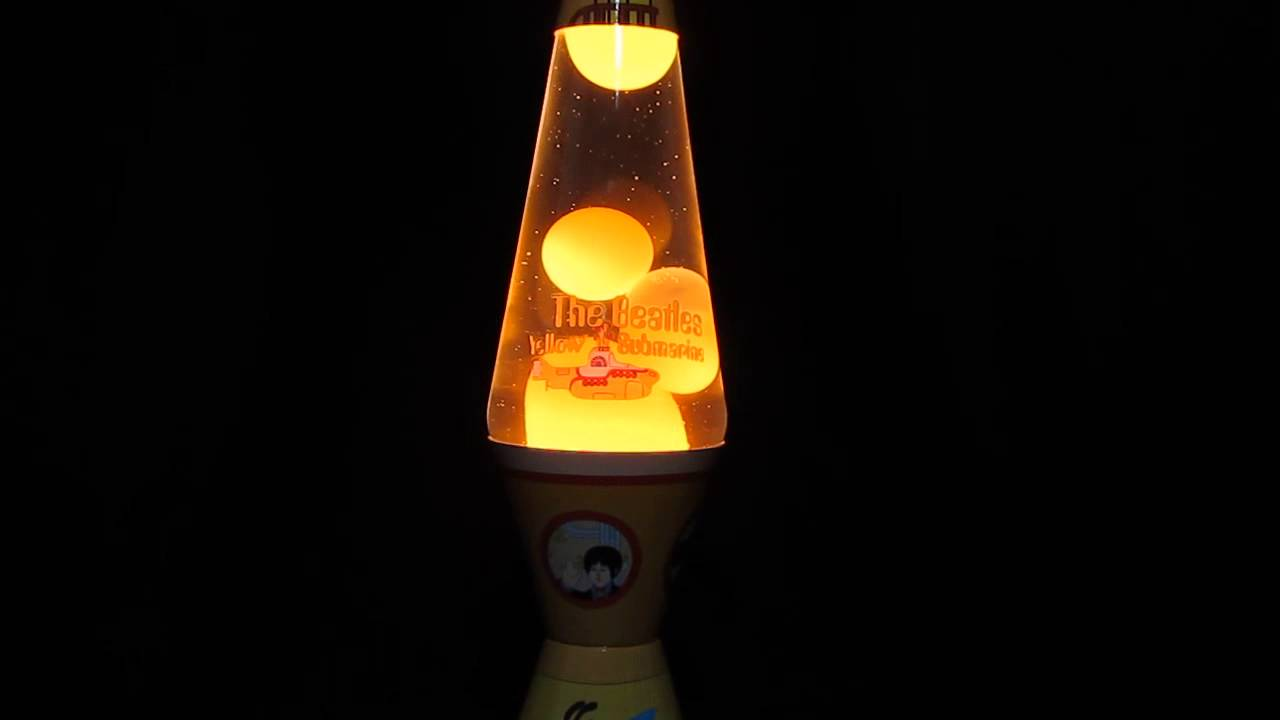 The Beatles Yellow Submarine Yellow Submarine Lava Lamp - YouTube