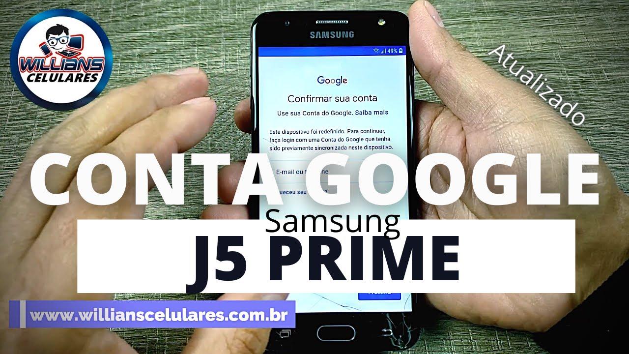 Desbloquear Conta Google do J5 PRIME Patch de segurança atualizado