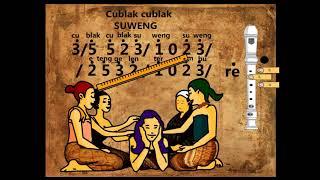 Not angka lagu daerah Cublak cublak suweng + recorder tutorial