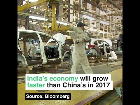 India's economy will grow faster than China's in 2017