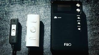 Усилители для наушников FiiO(Подробный обзор - http://www.iphones.ru/iNotes/fiio-portable-headphone-amplifiers Тестировались модели: FiiO E01 ALISAN (1120 руб), FiiO E02i (1490 ..., 2013-07-29T17:55:06.000Z)
