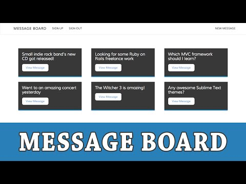 Ruby On Rails Tutorial | Building A Message Board