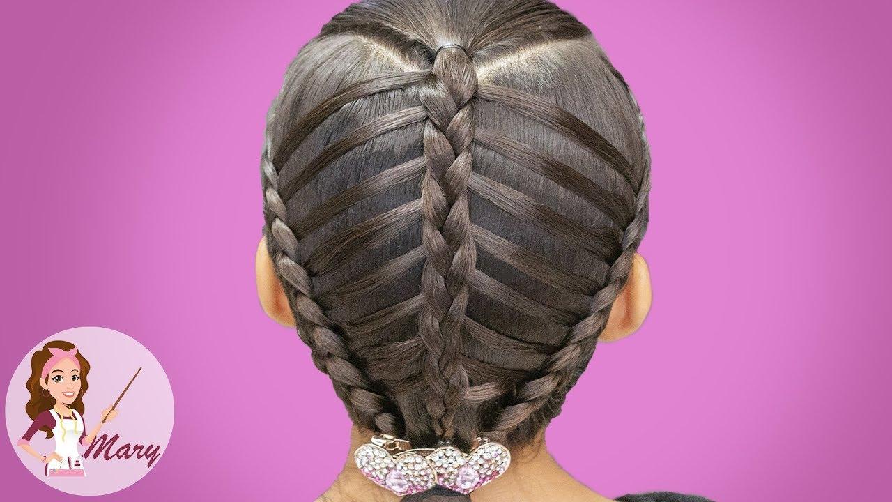 Peinado Facil Para Nina Con Trenzas Postizas Youtube