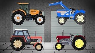 Garage - Agricultural Machinery   Compilation   Tractor For Kids   Bajki Traktory Kompilacja