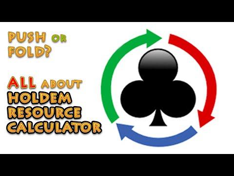 Обзор на Holdem Resource Calculator, изучаем пуш/фолд